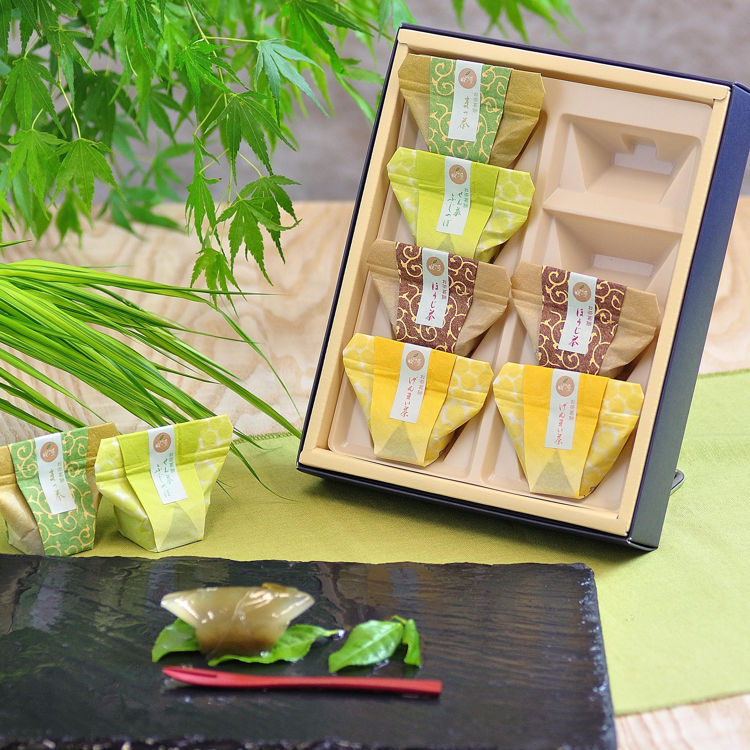 接待の手土産セレクション特選「お茶専門店のお茶葛餅」8個入り